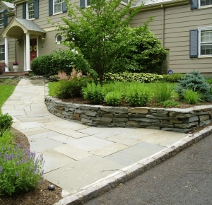 Bluestone Walk and Fieldstone Wall