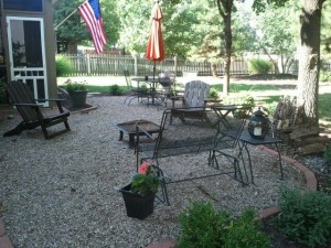 pea gravel patio 1