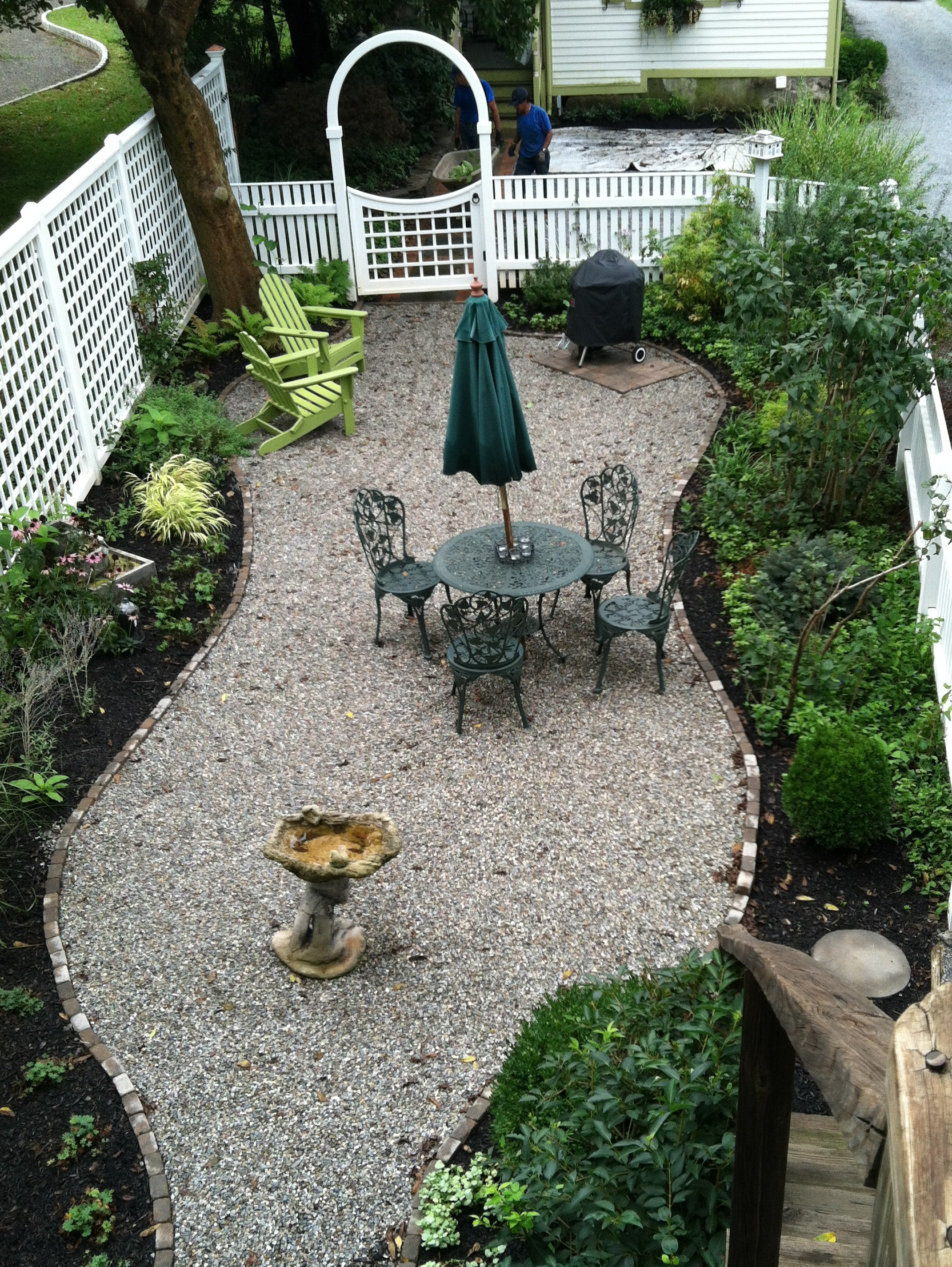Pea Gravel Patios - Sterling Horticultural Services on Patio And Gravel Ideas id=59697
